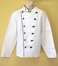 New Nfl Premium Chef Coat 100% Cotton L Size Football Plain Chief Coat