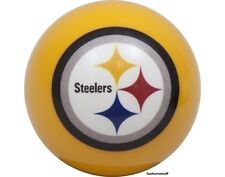 PITTSBURGH STEELERS YELLOW NFL BILLIARD GAME POOL TABLE REPLACEMENT CUE 8 BALL