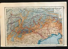 Vintage Map, WW1 Italian Front - Harmsworth's Atlas