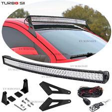 "50"" Curved LED Light Bar+Mount Bracket For Chevy Silverado/Sierra 1500 2500 3500"
