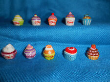 CUPCAKES DESSERTS Cup Cakes Set of 10 Mini Figurines Tiny Fench Porcelain FEVES