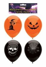 15 Halloween Latex Balloons - Party Decoration Orange Black Skull