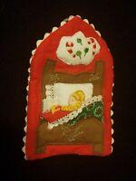 Handmade Appliqued Christmas Ornament Twas the Night Before Christmas theme