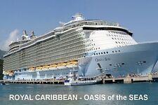 SOUVENIR FRIDGE MAGNET of CRUISE SHIP OASIS of the SEAS - ROYAL CARIBBEAN