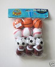 12 Mini Foam Stuffed Sports Balls Kid Party Goody Loot Bag Filler Favor Supply