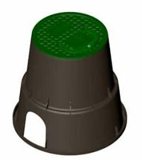 Pozzetto per elettrovalvole tondo piccolo c/maniglia dimensioni 243 x 229 mm