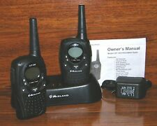 Two Midland (LXT-300) 10 Mile Radios / Walkie-Talkies With AC Charger and Dock