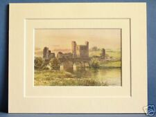 RIVER BOYNE AT TRIM LEINSTER IRELAND VINTAGE DOUBLE MOUNTED PRINT 10X8 c1920 OLD