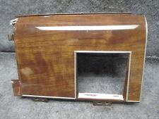 1988-1989 Lincoln Town Car Headlight Switch Bezel Woodgrain Aluminum OEM 21003