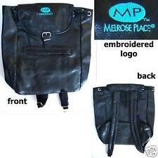MELROSE PLACE! EMBROIDERED LOGO BLACK BACK PACK BAG NEW