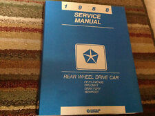 1988 Dodge Diplomat Chrysler Fifth Avenue Plymouth Gran Fury Service Shop Manual