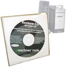 eMachines Desktop PC Restore Disc T2596 Bootable OS Drivers Programs Genuine NEW