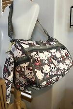 LeSportsac Hello Kitty LIMITED Travel Bag LARGE WEEKENDER 7185 G630 Gray New P-1