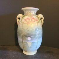 Antique  Handpainted Moriage  Nippon  Vase