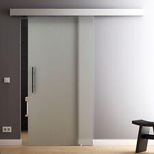 LEVIDOR SlimLine Glasschiebetür Satiniert 1025 x 2050mm SoftClose SoftStop opt.