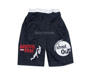 Above The Rim Tournament Shoot Out 2 Pac Basketball Shorts Streetball Hip Hop