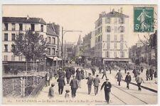 CPA 93200 SAINT DENIS rue du Chemin de Fer & Ernest Renan Animée Edit LL ca1908