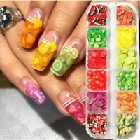 3D Nails Art Accessories Mixed Flower Fruit   Slices Slicing Nail Decor A++++
