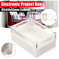 Clear Waterproof Electronic Project Box Enclosure Plastic Case Cover