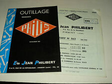 Catalogue outillage PHILIS + Tarif 1962 Firminy Outil brochure prospekt Tools