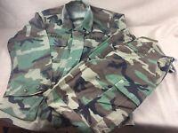 Camouflage Coat Jacket  & Pants Woodland Combat Field US Army Hot Weather