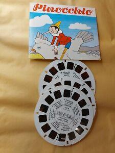 Vintage Pinocchio Carlo Collodi's VIEWMASTER 3 Reels & card B-311