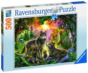 Ravensburger - Wolf Family in Sunshine 500pc - Jigsaw Puzzle