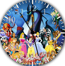 All Disney Characters Frameless Borderless Wall Clock Nice For Gifts Decor W174