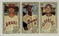(3) 2019 Topps Allen & Ginter Mini Baseball Card Lot Hank Aaron Shohei Ohtani