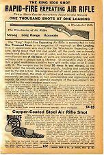 1939 Print Ad of King 1000 Shot Rapid Fire Repeating Air Rifle Gun Bulls Eye BB