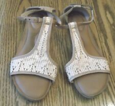 Reef Brown/Beige Closed Back Ankle Strap Sandals NOT THONG Size 10 EUC