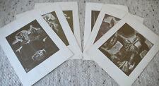 SIX GRAVURES, LITHOGRAPHIES PERSONNAGES ESPAGNOLES SIGNE INCONU...ANNEES 40 50