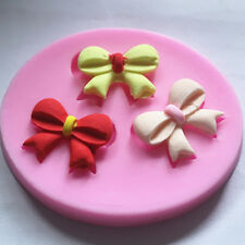 Fondant Cake Mold Home Easy Use Bow-knot Style Silicone mold mould#
