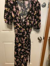 Wild Fable Puff Sleeve V Neck Floral Jumpsuit-size XXL-NWT