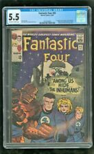 CGC 5.5 FANTASTIC FOUR #45 MARVEL 1965 1ST APPEARANCE OF THE INHUMANS *RARE*