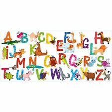 26 Alphabet Animals 7cm Letters Wall Art Decor Children Learn Vinyl Stickers
