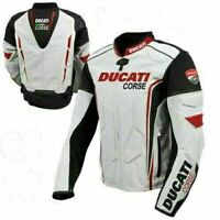 Ducati Corse Motorcycle Leather Jacket Sports Motorbike Leather Jackets