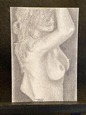 New ListingAceo Art Card Original Nude 2.5� x 3.5� Graphite