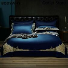 Luxury Egyptian Cotton Royal Bedding Set Embroidery Bed Set Duvet Cover Bedsheet