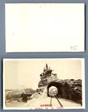 France, Biarritz Le Rocher de la Vierge CDV vintage albumen carte de visite,