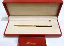 S. T. DUPONT CLASSIQUE GOLD PLATED RARE VERTICAL DESIGN BALLPOINT PEN - MINT