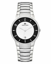 Danish Design IQ64Q1018 Black/Silver Dial Titanium Quartz Sapphire Men's Watch