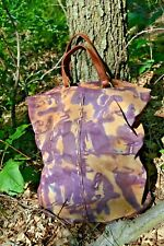 Lucky Brand suede brown leather tan beige black tote large hand bag purse hobo