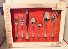 New International 45 Pc Stainless Steel Flatware Set American Bead