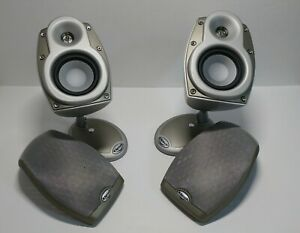 Lot of 2 Klipsch RSX Silver Speakers Freestanding or Wall Mount Pair