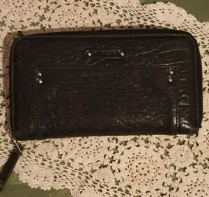 PIERRE CARDIN Women's Purse - Genuine Leather Black Purse Wallet