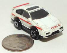 Small Micro Machine Plastic Pontiac Fiero GT in White with Red Trim