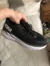 Men's Hoka One One Clifton 7 Running Shoes Size 14 Black White
