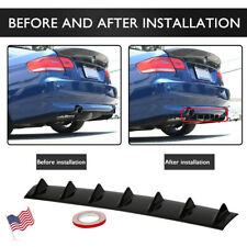 "33"" Universal Car Rear Body Bumper Lip Diffuser Shark Fin 7 Wing Chassis ABS"