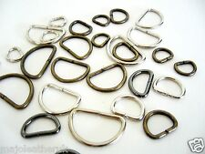 D rings buckles for webbing 10 15 20 25 mm.different colours available unwelded